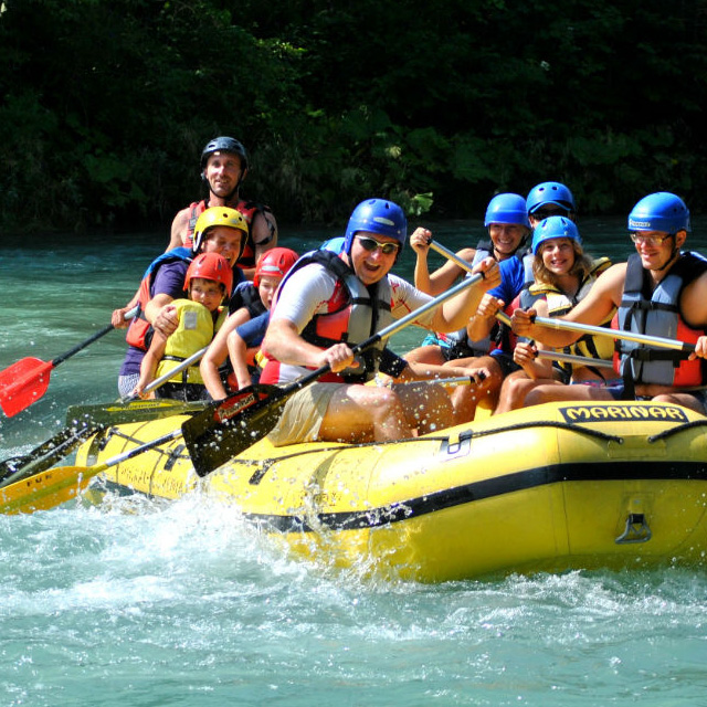 fun rufting bled on river sava near bled