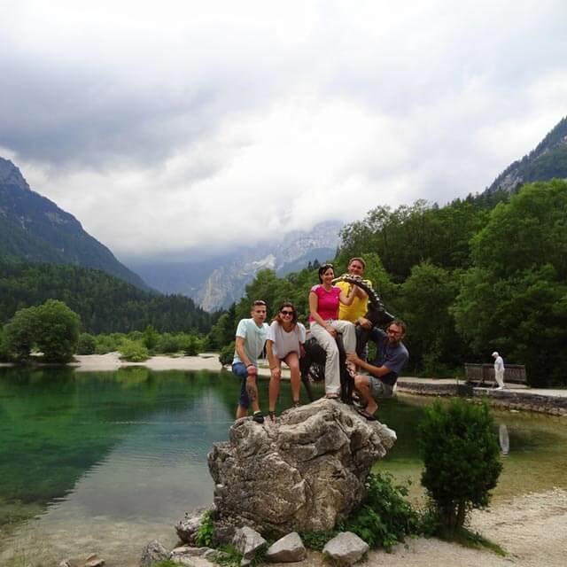 visiting the lake jasna